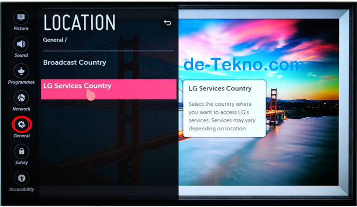 Mengganti Services Country LG Smart TV