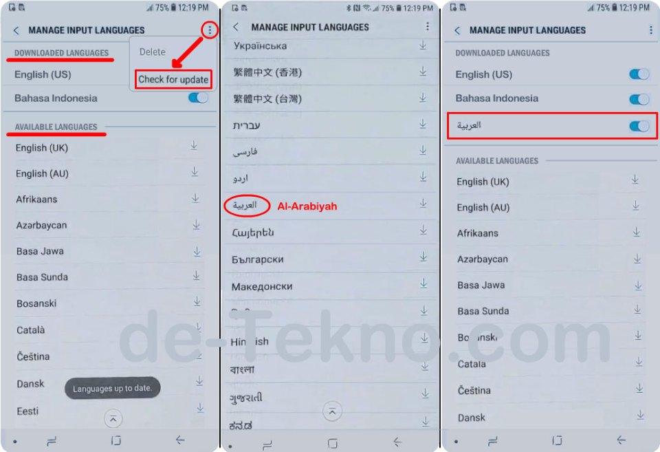 Menambahkan bahasa Arab di keyboard hp Samsung