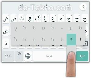 Menambahkan harakat bahasa Arab di keyboard Xiaomi