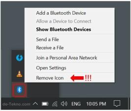 Restore Bluetooth icon in Windows