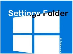 Settings folder Windows 10