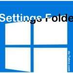 Settings folder Windows 10