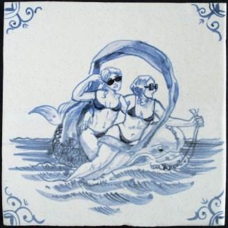 9303-Zeewezen-Zwei-Nereiden-auf-Fisch-Variation