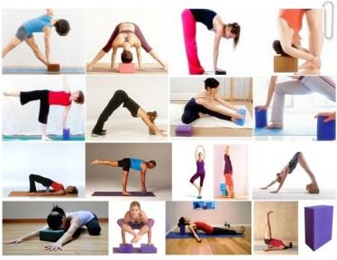 posturas de yoga con bloques