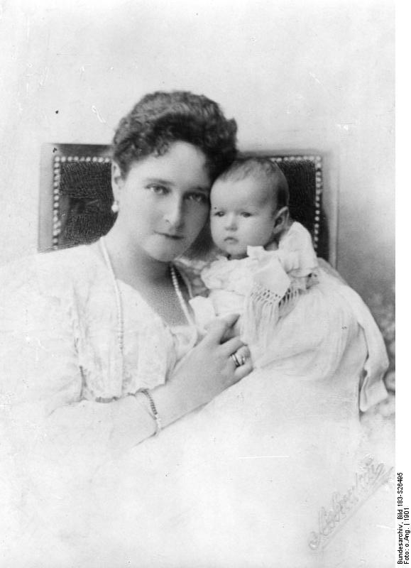 Zarin Alexandra Fjodorowna mit Tochter Anastasia