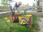 Garten gestalten und viel Geld sparen. Blumenkisten bepflanzen