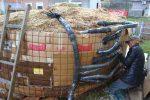 der Biomeiler liefert Warme-Energie zum Trocknen