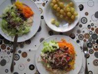 Knollen- und Blatt Salat
