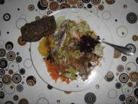 Misch-Rohkostsalat mit Fisch