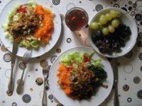 Rohkost Salat mit Nudeln