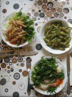 Rohkost Bärlauchpesto und Salat