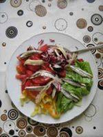 Sardinen auf Rohkost-Salat