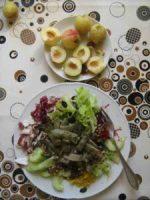 Rohkostsalat mit Stangenbohnen