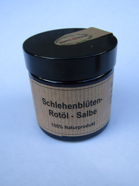 Schlehenblueten Rotoel Salbe
