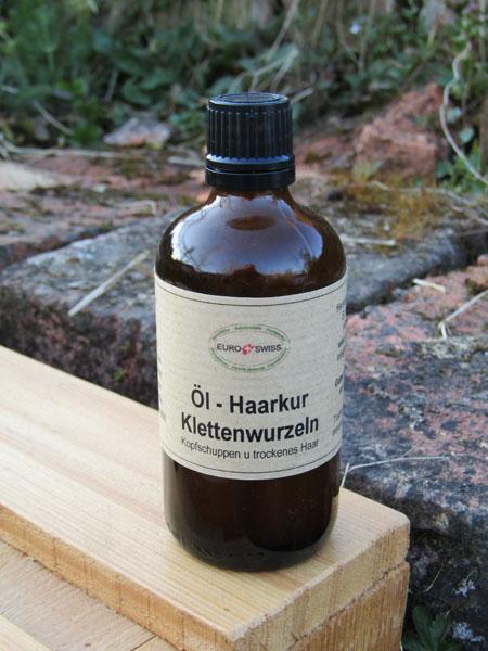 Haaröl aus Klettenwurzeln