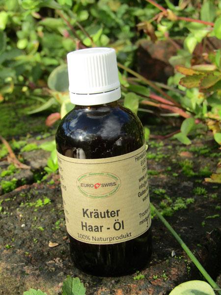Kräuteröl für Haare und Kopfhaut