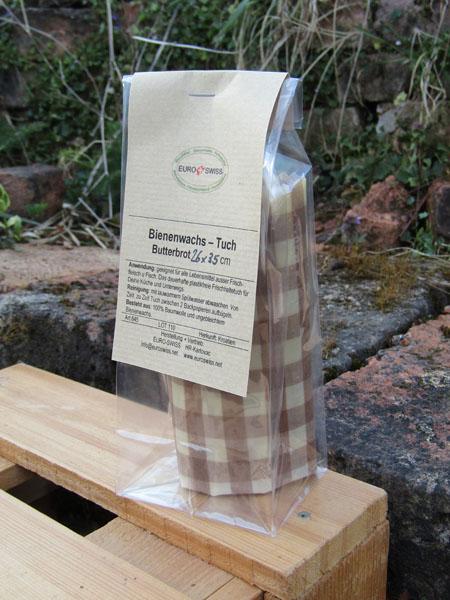 Bienenwachs Tuch für das Pausenbrot