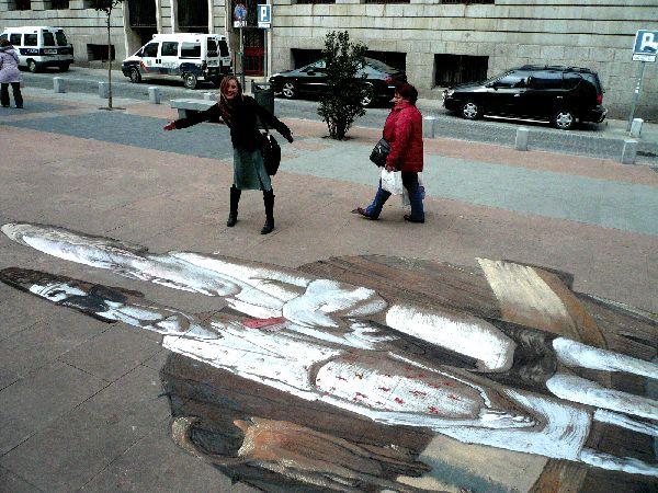 Рисунки на улицах (11 фото)
