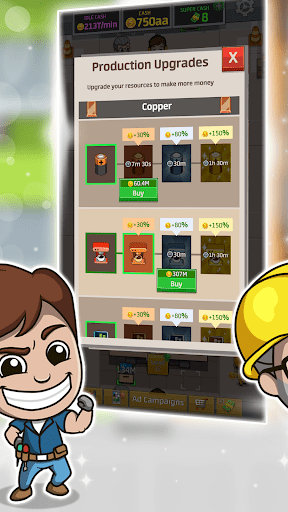Idle Factory Tycoon 1.25.0 cheathackgameplayapk modresources generator 3