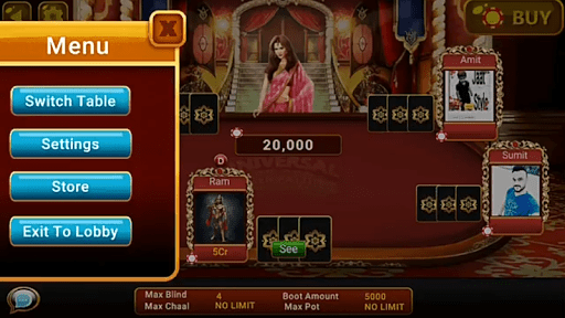 Universal Teen Patti – Indian Poker Game 0.20 cheathackgameplayapk modresources generator 5