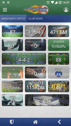 Virtuafoot Football Manager cheathackgameplayapk modresources generator 1