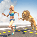Free Download Angry Lion City Attack : Hunting Animal Simulator 1.0 MOD APK, Angry Lion City Attack : Hunting Animal Simulator Cheat
