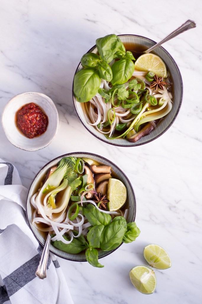 Vegetarische Pho- rein pflanzlich, vegan, glutenfrei, ohne raffinierten Zucker - de.heavenlynnhealthy.com