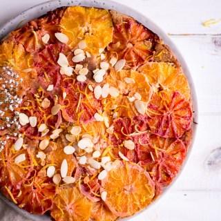 Gesunder Zitronen-Blutorangenkuchen - rein pflanzlich, vegan, glutenfrei, ohne raffinierten Zucker - de.heavenlynnhealthy.com
