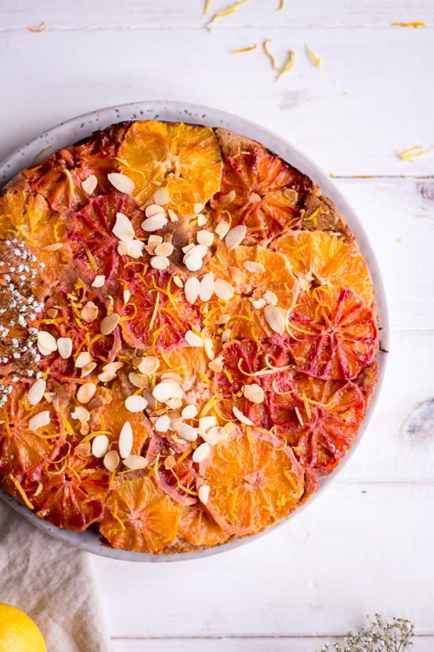 Gesunder Zitronen Blutorangen Kuchen Heavenlynn Healthy