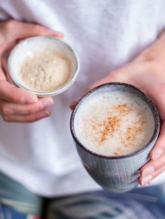 Hormonausgleichender Ashwagandha Latte - rein pflanzlich, vegan, glutenfrei, ohne raffinierten Zucker - de.heavenlynnhealthy.com