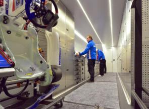 Mach1 Motorsport - inside the team trailer