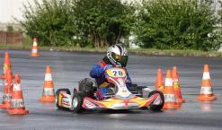 Yannick Schorr mit Mach1 Slalom Kart