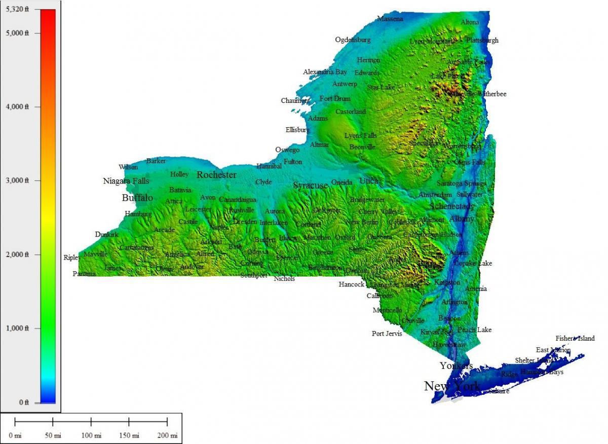 Nyc Topografische Map