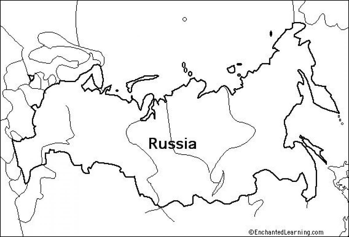 Umriss Landkarte Russland