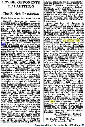 1937-12-24 - Manchester Guardian - S. 20 - Jewish Opponents of Partition.jpg