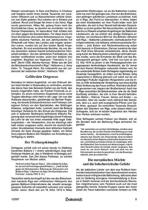 Albert Leo Schlageter – ein deutscher Freiheitskämpfer, Huttenbriefe Sonderdruck Februar 2007 - 05.jpg