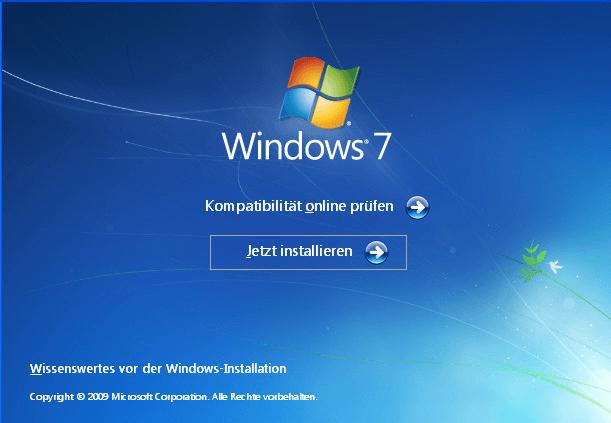Jetzt installieren Windows 7