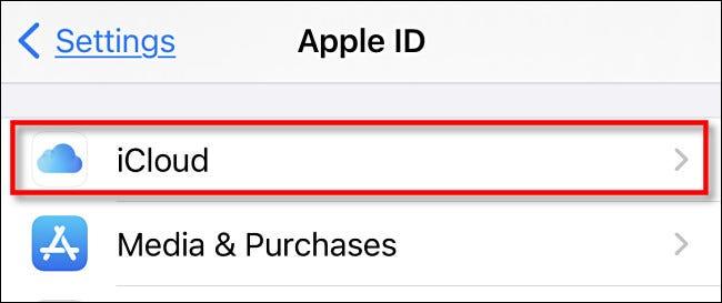 """Tippen Sie auf """"iCloud""""."""