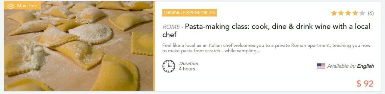 """Kochkurse wie """"Pastakochkurs mit einem lokalen Koch"""""""