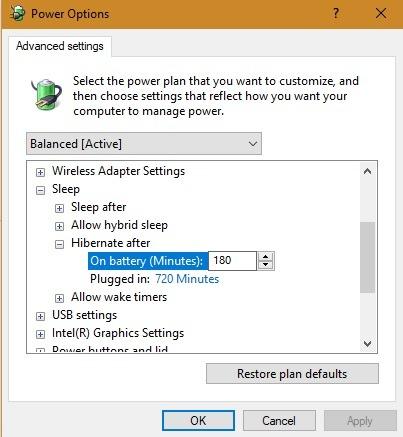 Erweiterte Einstellungen für den Ruhezustand des PCs 1