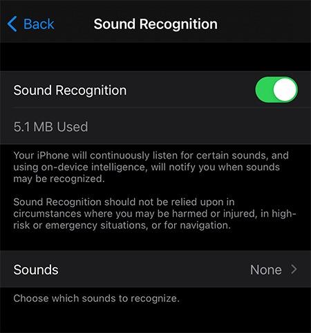 Tonerkennung Ios Ton umschalten