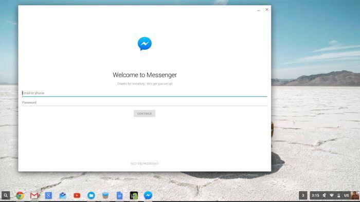 Verwenden der Android Messenger-App auf dem Chromebook