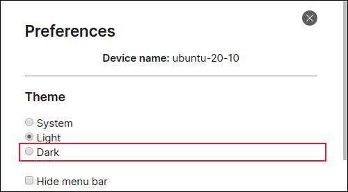 Einstellen des Dunkelmodus im Signal-Desktop-Client