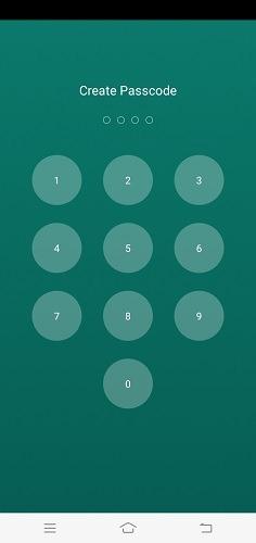 Verbergen Sie SMS-Anrufe WhatsApp Chat Locker-Passcode