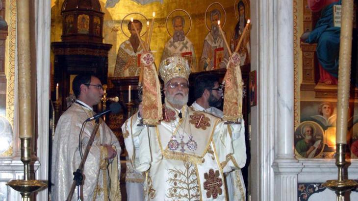 Patriarch Gregorios III. Laham von Antiochia; Foto: SANA