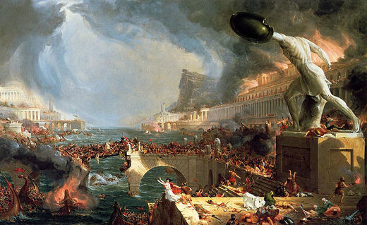 'The course of empire', von Thomas Cole