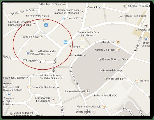 zona piazza del Campo, Siena - Google Maps