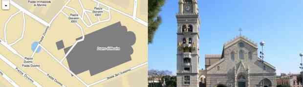 Il duomo di Messina e il suo tunnel: così sarebbe secondo le mappe di Agenzia Entrate