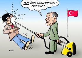 Afbeeldingsresultaat voor erdogan wants money cartoon