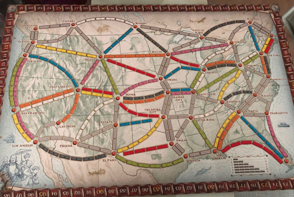 Tablero de Ticket to ride
